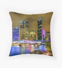 Colourful Circular Quay Throw Pillow