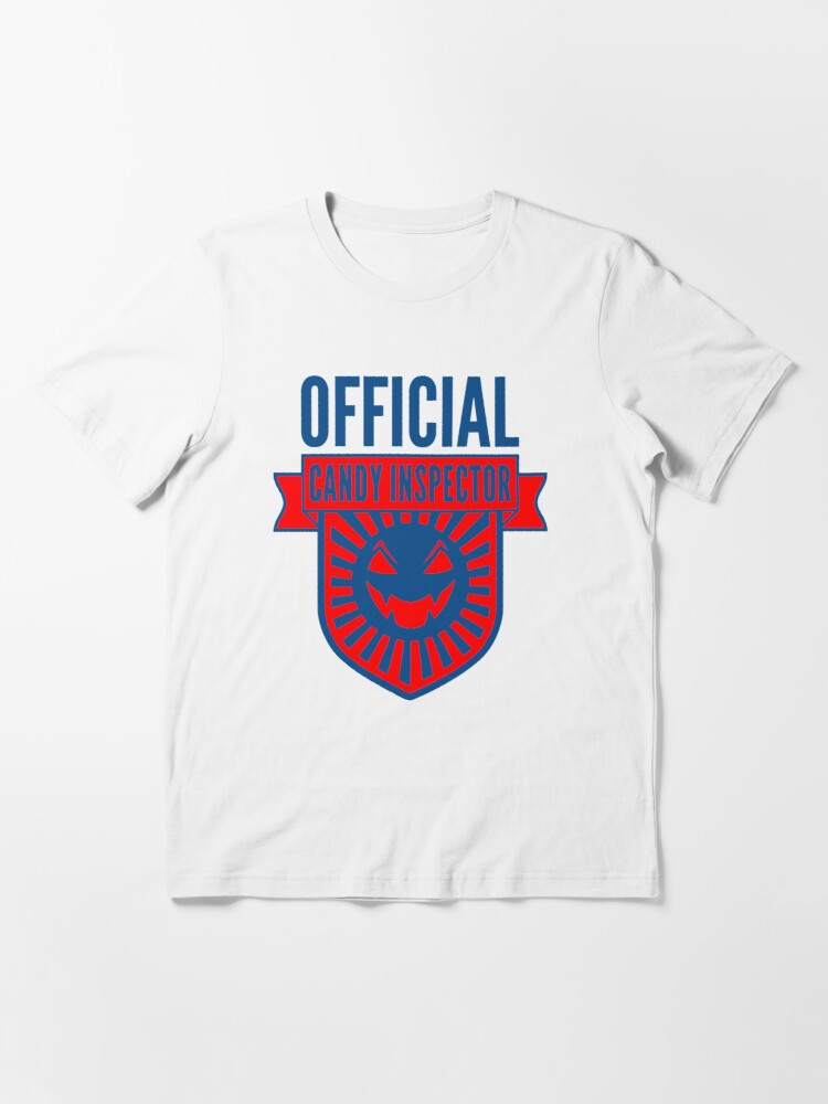 Alternate view of Official Candy Inspector - Red/Blue Halloween Design Essential T-Shirt