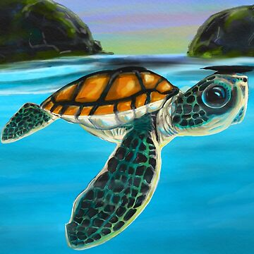 Little Sea Turtle  by rodoart
