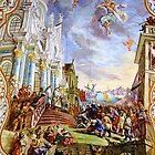 St. Anthony of Padua and the Donkey - Celling Fresco by Elzbieta Fazel