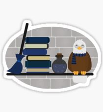 House Shelf - Eagle (grey background) Sticker