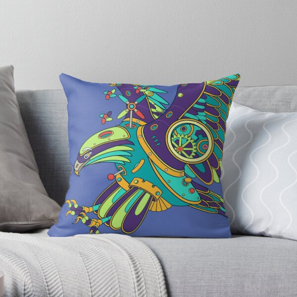 Eagle, from the AlphaPod collection Throw Pillow