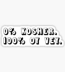 KOSHER. OY VEY. Sticker