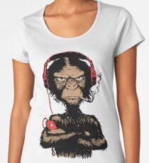 Smoking Monkey - Walkman Women's Premium T-Shirt