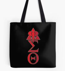 Elephant Delta Triangle Sigma Red Theta T-Shirt 2 Tote Bag
