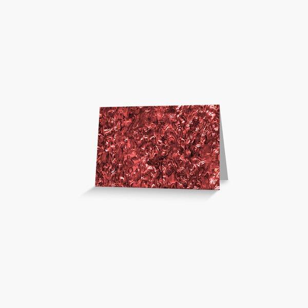 Abalone Shell | Paua Shell | Seashell Patterns | Sea Shells | Red Tint |  Greeting Card