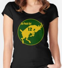 Aaron Rodgers Goat Go Pack Go (transparent) Women's Fitted Scoop T-Shirt