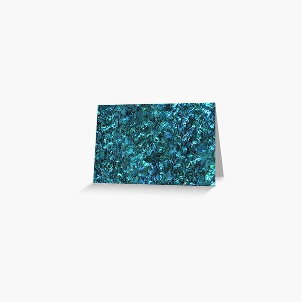 Abalone Shell | Paua Shell | Seashell Patterns | Sea Shells | Cyan Blue Tint |  Greeting Card