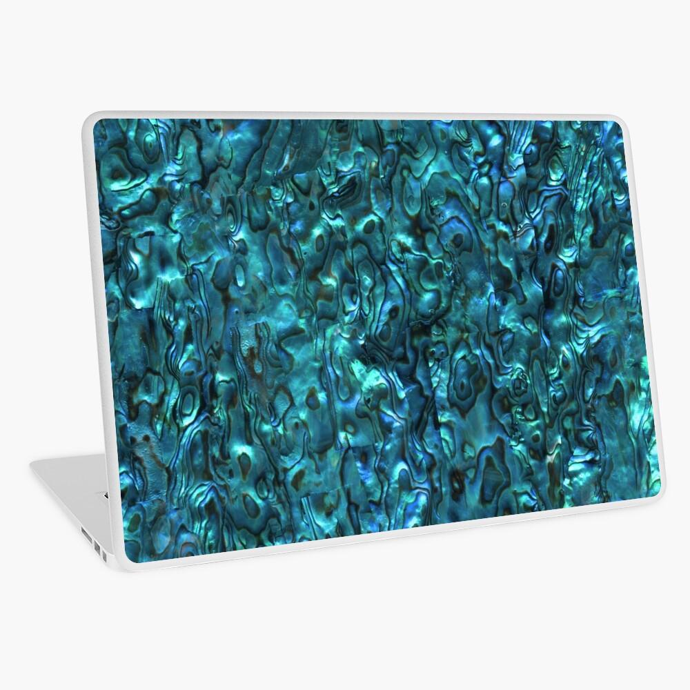 Abalone Shell | Paua Shell | Seashell Patterns | Sea Shells | Cyan Blue Tint |  Laptop Skin