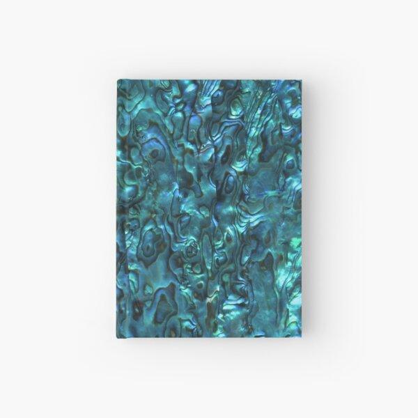 Abalone Shell   Paua Shell   Seashell Patterns   Sea Shells   Cyan Blue Tint    Hardcover Journal