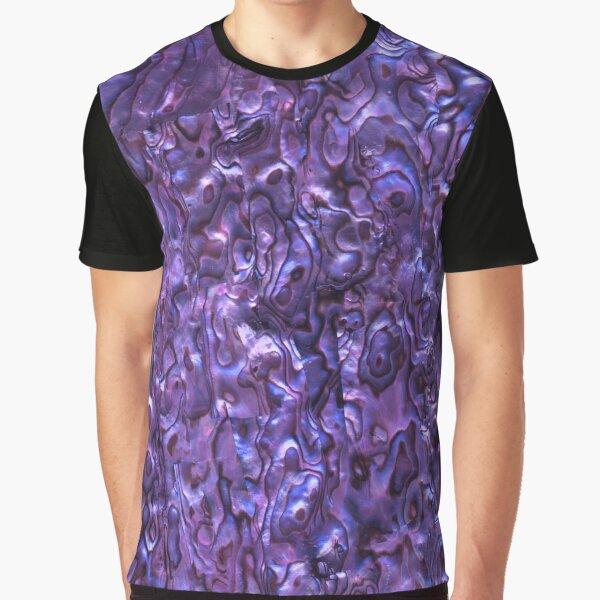 Abalone Shell   Paua Shell   Seashell Patterns   Sea Shells   Violet Tint    Graphic T-Shirt