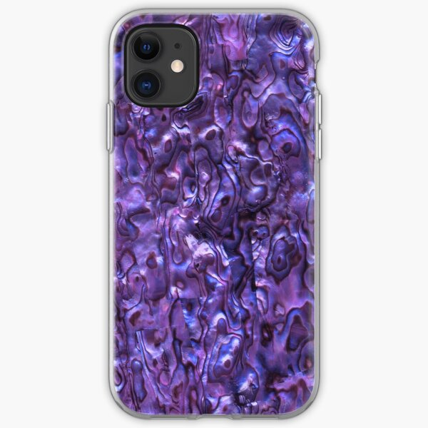 Abalone Shell | Paua Shell | Seashell Patterns | Sea Shells | Violet Tint |  iPhone Soft Case