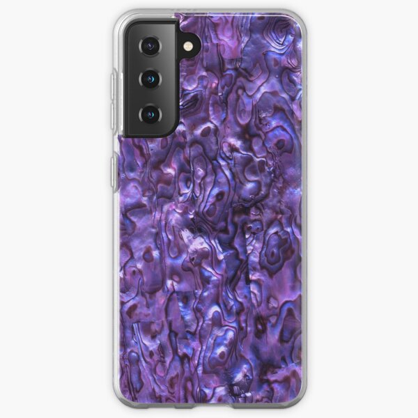 Abalone Shell | Paua Shell | Seashell Patterns | Sea Shells | Violet Tint |  Samsung Galaxy Soft Case