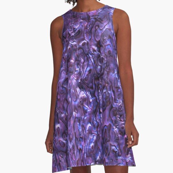 Abalone Shell | Paua Shell | Seashell Patterns | Sea Shells | Violet Tint |  A-Line Dress