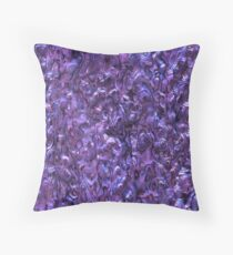 Abalone Shell | Paua Shell | Violet Tint Throw Pillow