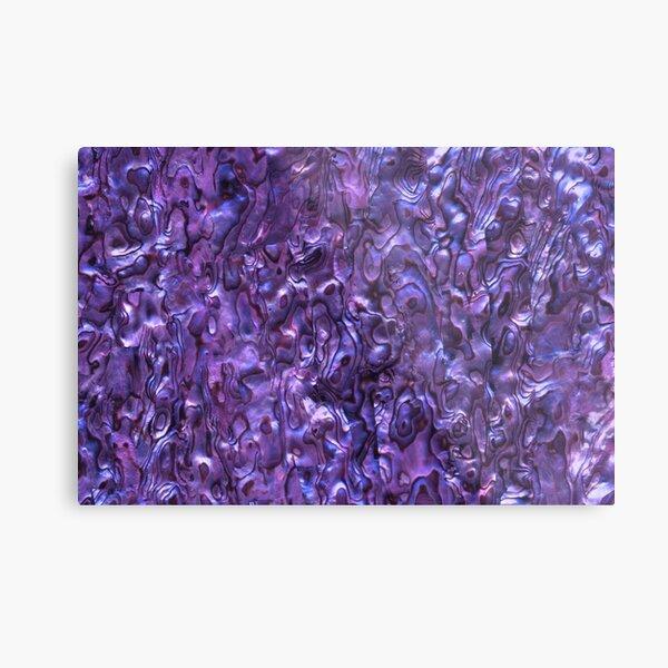 Abalone Shell   Paua Shell   Seashell Patterns   Sea Shells   Violet Tint    Metal Print