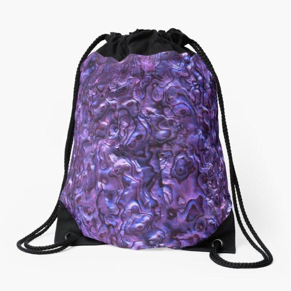 Abalone Shell | Paua Shell | Seashell Patterns | Sea Shells | Violet Tint |  Drawstring Bag