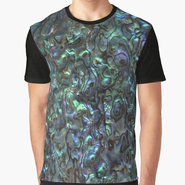 Abalone Shell | Paua Shell | Seashell Patterns | Sea Shells | Natural |  Graphic T-Shirt