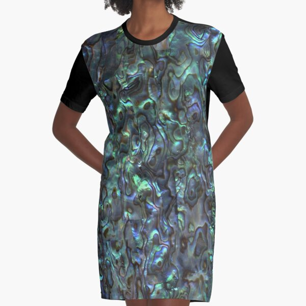 Abalone Shell | Paua Shell | Seashell Patterns | Sea Shells | Natural |  Graphic T-Shirt Dress