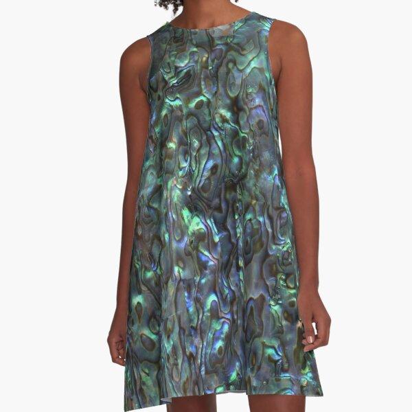 Abalone Shell | Paua Shell | Seashell Patterns | Sea Shells | Natural |  A-Line Dress