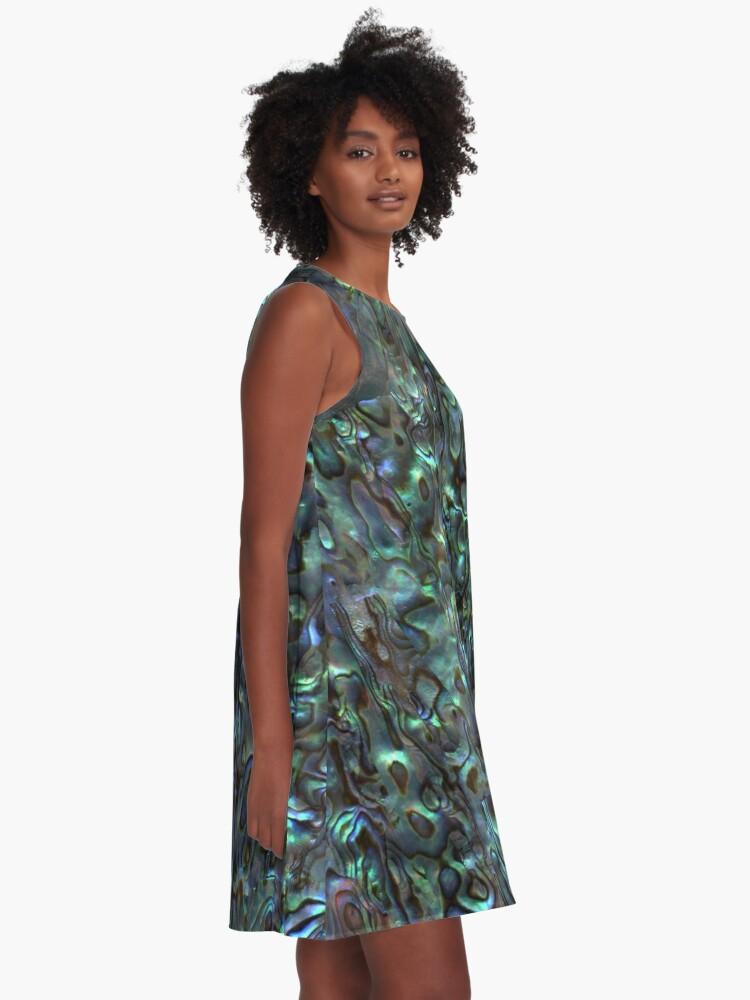 Alternate view of Abalone Shell | Paua Shell | Seashell Patterns | Sea Shells | Natural |  A-Line Dress