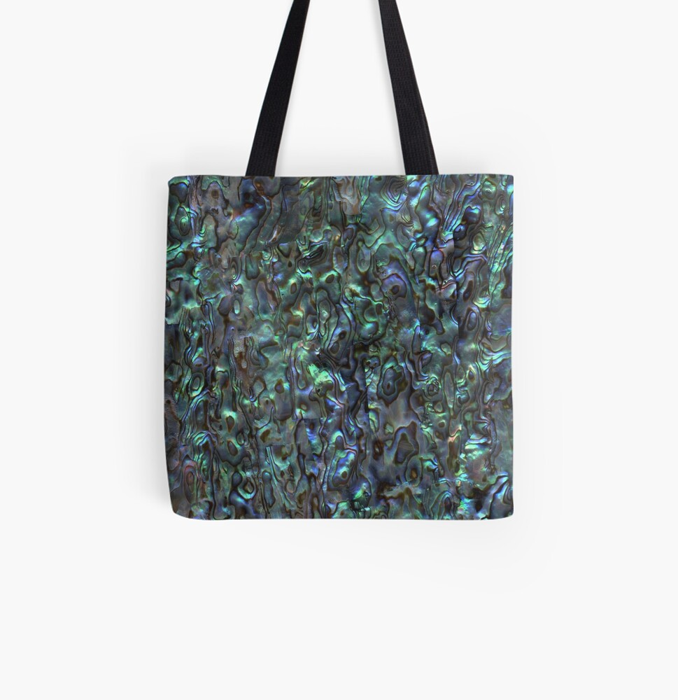 Abalone Shell   Paua Shell   Seashell Patterns   Sea Shells   Natural    All Over Print Tote Bag