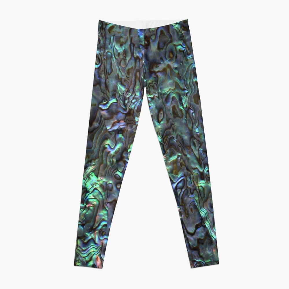 Abalone Shell | Paua Shell | Seashell Patterns | Sea Shells | Natural |  Leggings