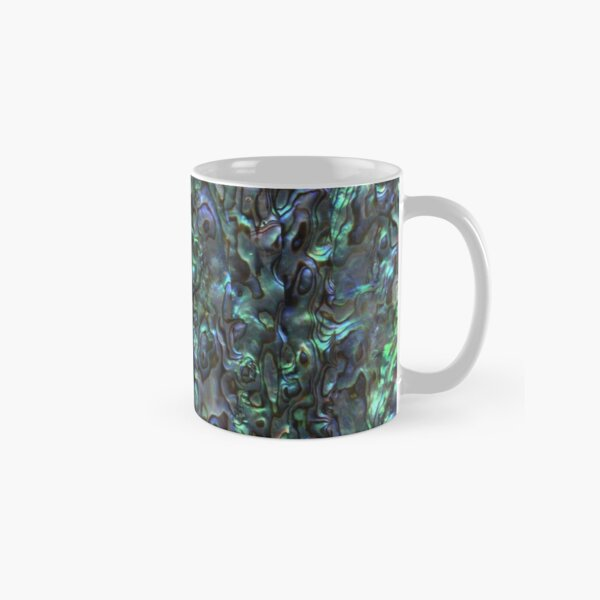Abalone Shell | Paua Shell | Seashell Patterns | Sea Shells | Natural |  Classic Mug