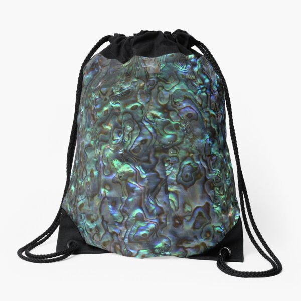 Abalone Shell | Paua Shell | Seashell Patterns | Sea Shells | Natural |  Drawstring Bag