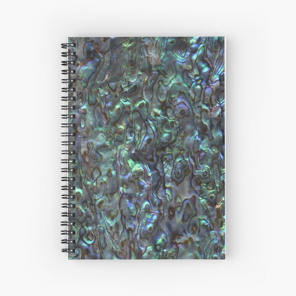 Abalone Shell | Paua Shell | Seashell Patterns | Sea Shells | Natural |  Spiral Notebook