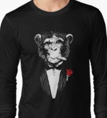 Smoking Monkey - Tux T-Shirt