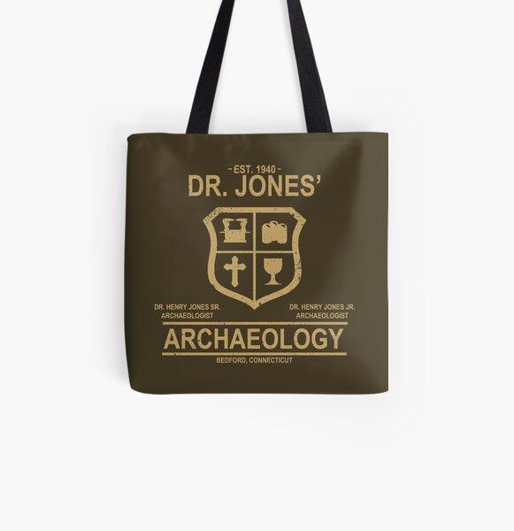 Dr. Jones 'Arqueología Bolsa estampada de tela
