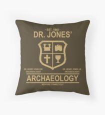 Dr. Jones' Archaeology Throw Pillow