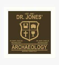 Dr. Jones' Archaeology Art Print