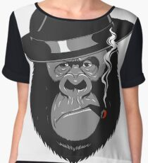 Smoking Monkey - Top Hat Women's Chiffon Top