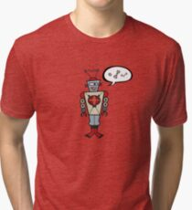 Robot Talking Nuts and Bolts Tri-blend T-Shirt