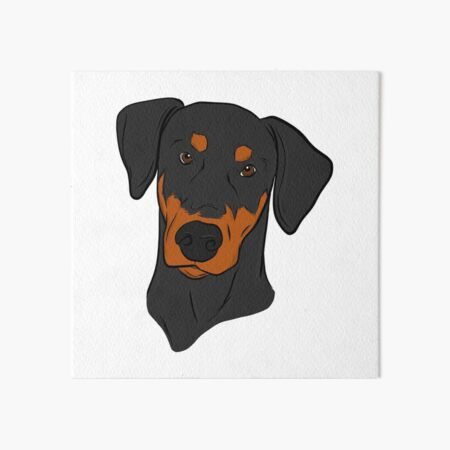 Doberman Art Board Print