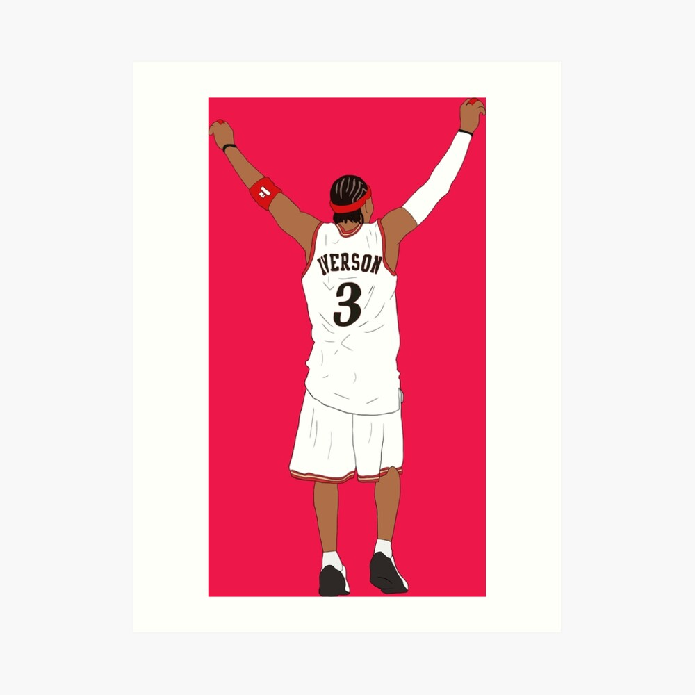 Allen Iverson Back-To Art Print