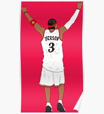 Allen Iverson Back-To Poster