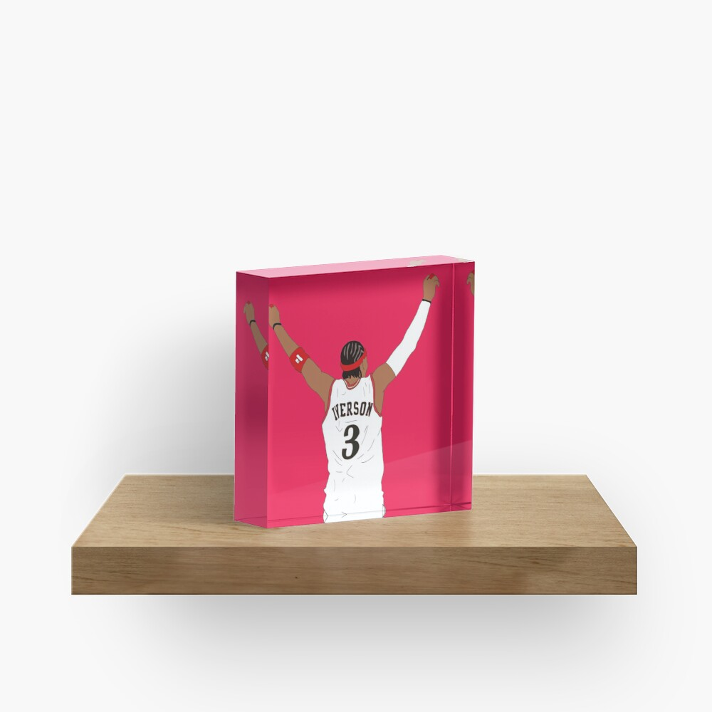 Allen Iverson Back-To Acrylic Block