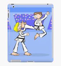 Karate two boys in full combat iPad Case/Skin