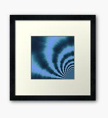 Ripple effect time travel Framed Print