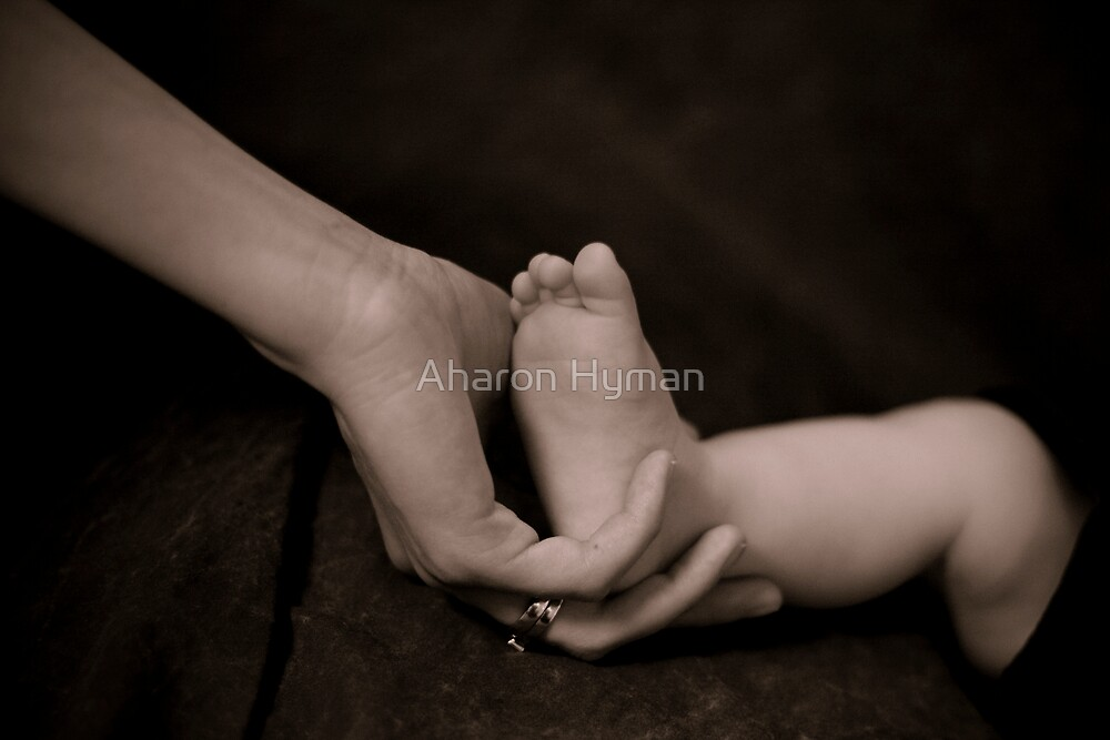 mother and son by Aharon Hyman