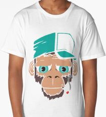 Smoking Monkey - Cartoon Long T-Shirt
