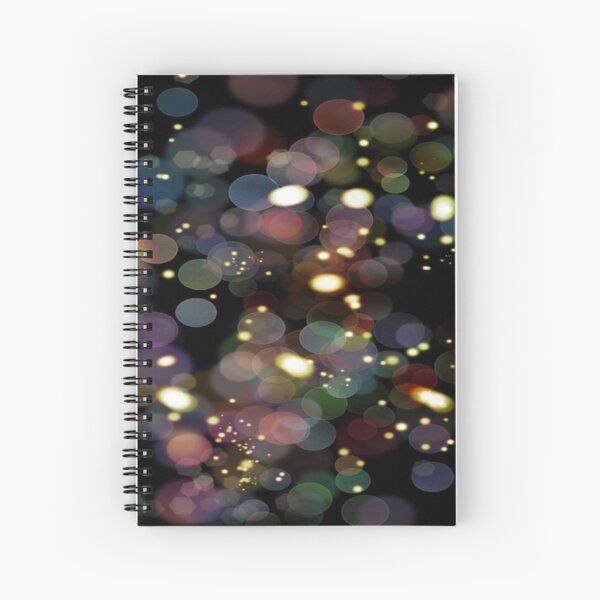 Rainbow drops  Spiral Notebook