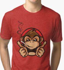 Smoking Monkey - Whats Up! Tri-blend T-Shirt