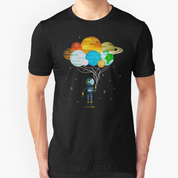 Planet Balloons - Space Party Slim Fit T-Shirt