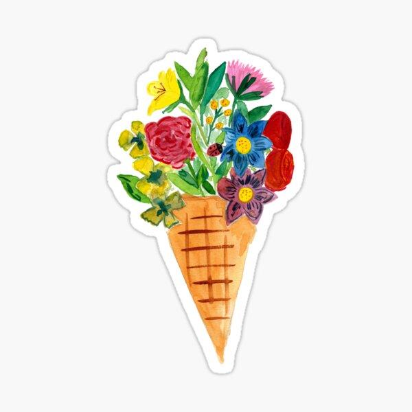 Flower Cone 2 Sticker