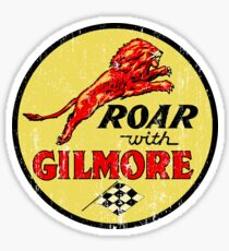 Roar with Gilmore classic gasoline Sticker