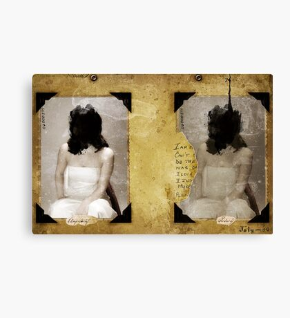 TWO PORTRAITS FOR THE LOST YOUTH Canvas Print
